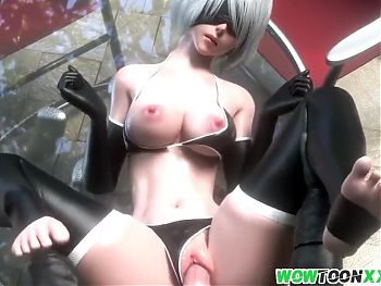 Big boobs 3D babes fucked by long dicks
