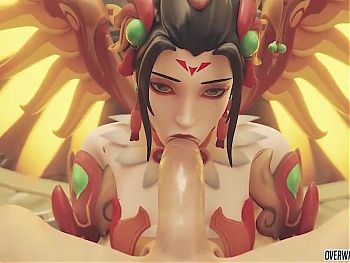 Big ass Overwatch heroes getting pussy fucked deeply
